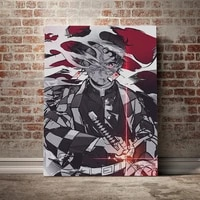 hd canvas painting wall art with frame kimetsu no yaiba anime canvas poster painting decor living room bedroom home decoration