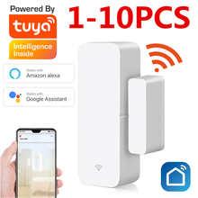 1-10PCS Tuya Smart WiFi Door Sensor Door Open / Closed Detectors WiFi App Notification Alert alarm support Alexa Google Home