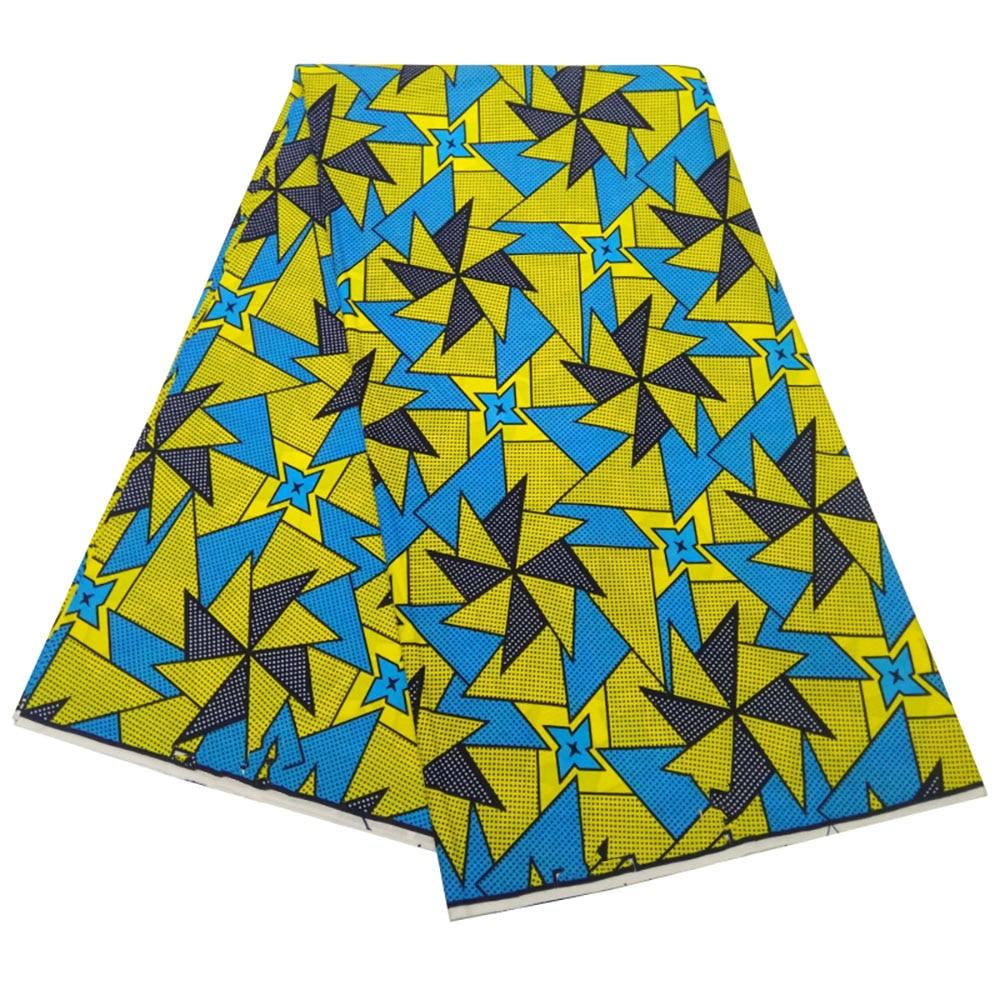 african wax tissus real wax 6yard/lot 2021 wax high quality african fabric wax print for sewing wedding dress недорого