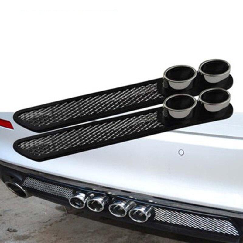 Personalizado doble decoración de tubo de escape falso salida de aire coche modificado anti-colisión cuerpo puerta pegatinas