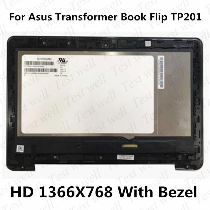 الأصلي 11.6 ''lcd الجمعية استبدال ل ASUS محول الوجه كتاب TP201 TP201S TP201SA LCD تعمل باللمس مع الإطار