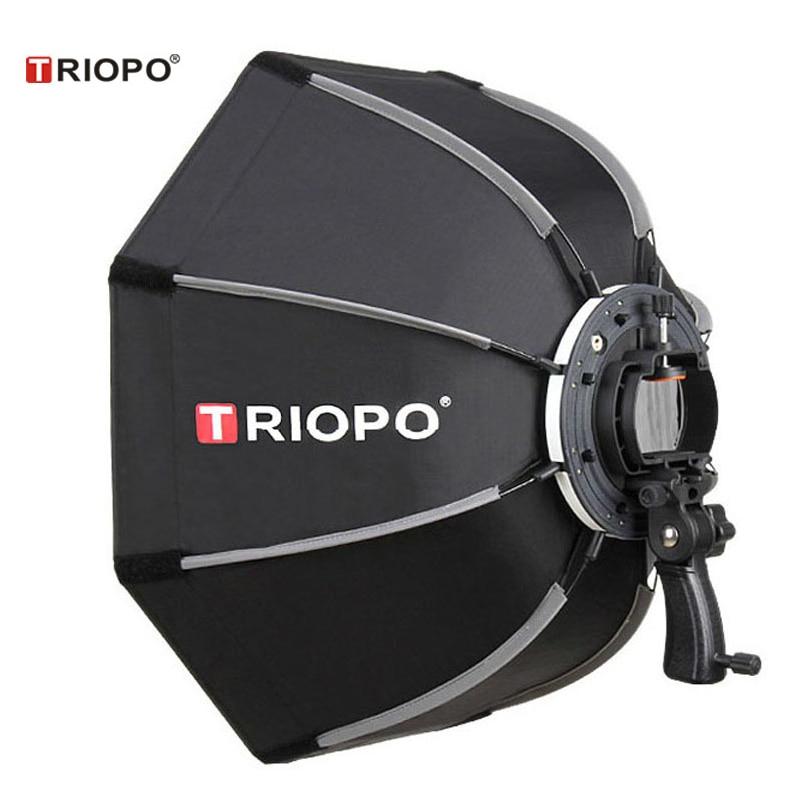 TRIOPO 65 سنتيمتر المحمولة في الهواء الطلق المثمن مظلة الفوتوغرافي Softbox ل Godox V860II TT600 TT685 YN560 III IV TR-988 فلاش Speedlite لينة مربع