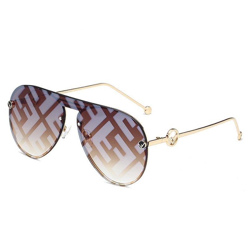 Feishini 2020 Oversized Pilot Sunglasses Women Luxury Brand Fashion Flat Top Clear Lens One Piece Men Eyewear Shade Mirror UV400