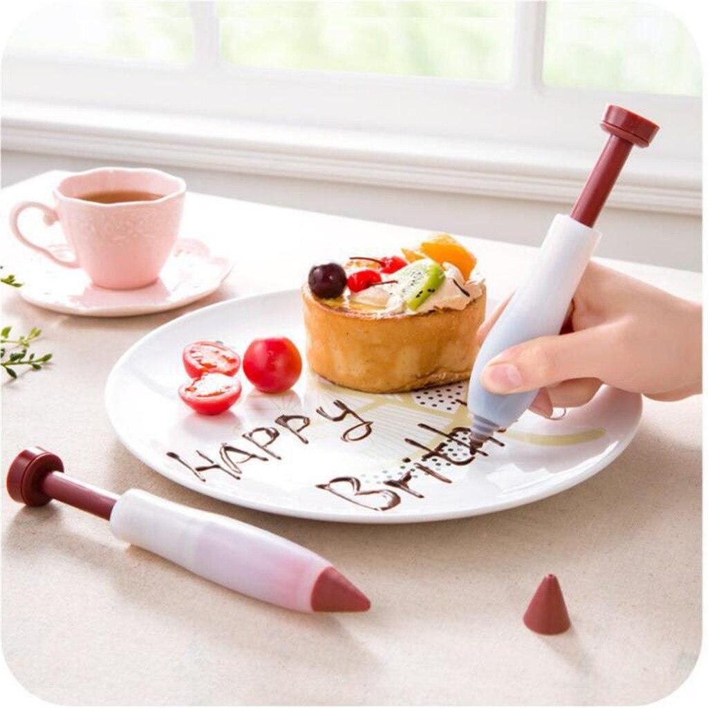 Silikon Icing Piping Creme Gebäck-tasche + 6 Edelstahl Kuchen Düse DIY Kuchen Dekorieren Tipps Fondant Gebäck Werkzeuge 2020 #2
