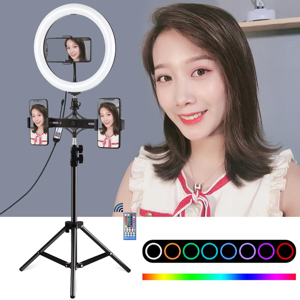 11.8 inch RGBW Kit ring lamp for Photography Dimmable LED Ring Light Kits Remote Control LED Light for Youtube Live Stream Vlog