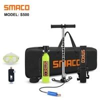 smaco scuba diving equipment mini scuba cylinder scuba diving oxygen box snorkel tank s500 kit