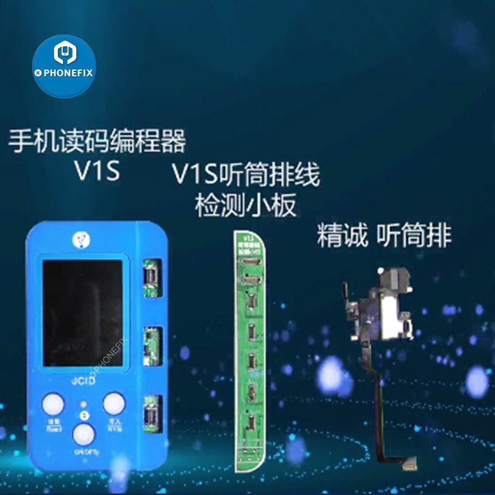 JC V1S سماعة الأذن الاستشعار فليكس كابل استقبال FPC كشف مجلس آيفون 8 X XS XR 11 ProMax صحيح لهجة الوجه معرف إصلاح