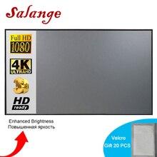 Salange Projektor Bildschirm, 72 84 100 120 zoll Reflektierende Stoff Tuch Für YG300 T6 Projektor XGIMI H2 HALO Mogo Xiaomi DLP Projektor