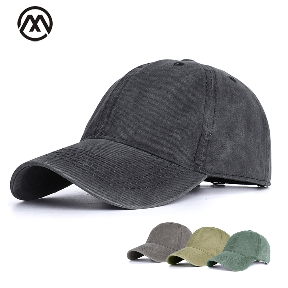 Woman baseball cap male / female hat spring baseball cap solid color retro cotton man / lady beanie dad truck cap bone new hat