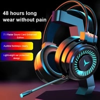 g58 3 5mm gaming headset wired headphones 7 led illumination stereo stereo bass surround pc notebook with microphone