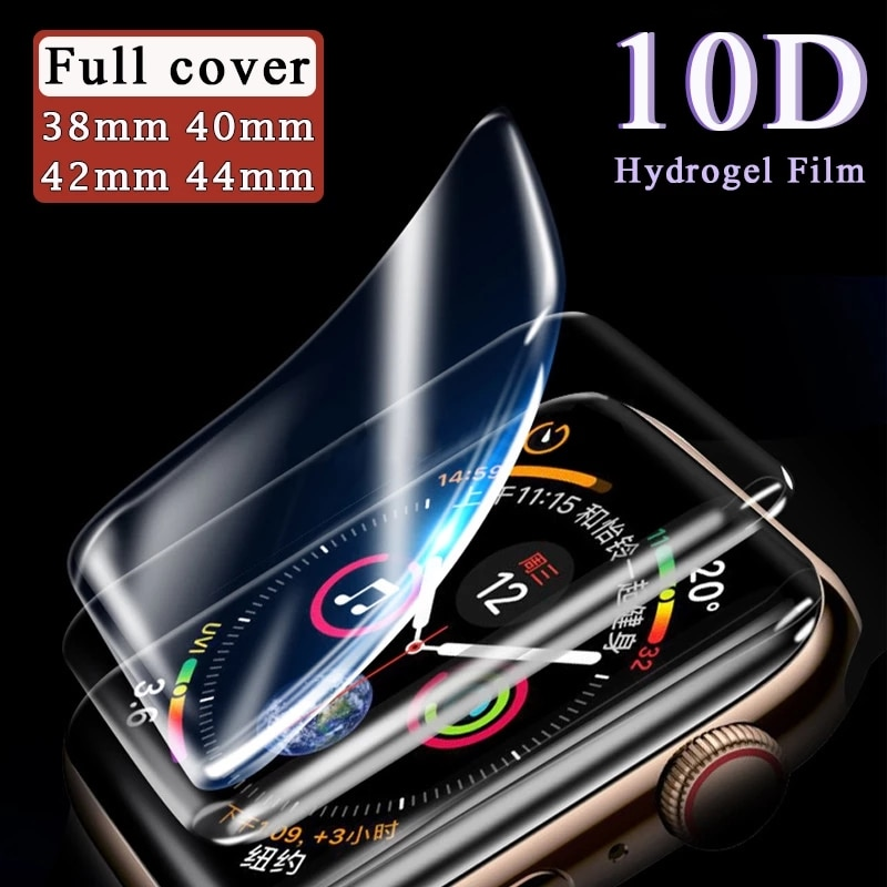 For Apple Watch Screen Protectors Iwatch 1 2 3 4 5 Series Hydrogel Film Full Coverage 38mm 40mm 42mm 44mm Protective Protection