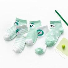 5 paires/lot bébé doux coton chaussettes nouveau-né infantile mignon dessins animé bébés belle maille chaussettes pour 0-24 mois garçon fille enfants cadeau