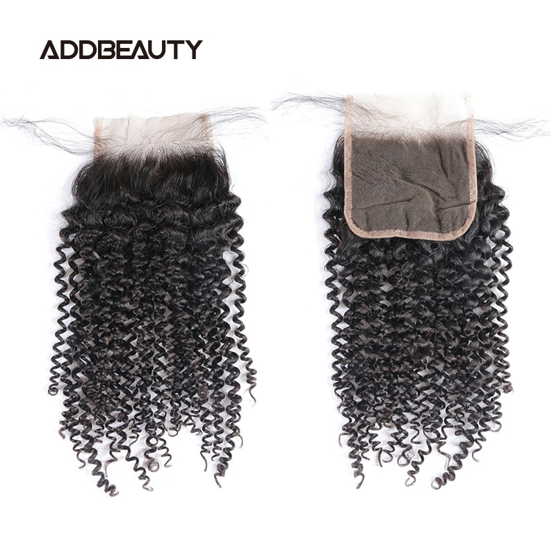 Kinky Curly 5x5 HD Lace Closure 13x4 Frontal Brazilian Raw Virgin Human Hair Natural Color Pre-plucked Hairline Free Part 130%