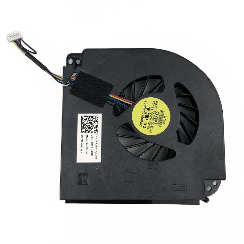 Nuevo ventilador enfriador Original de CPU para Dell M6400 M6500 ventilador de refrigeración para ordenador portátil dfs601601605lb0t F8V8 CN-0N7J57 N7J57 5pin