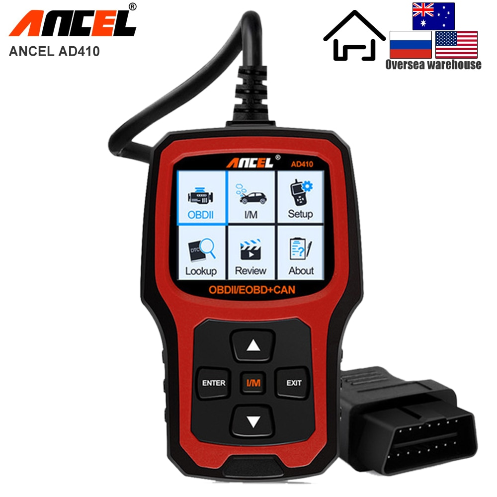 ANCEL AD410 OBD2 Scanner Professional Automotive OBD Code Reader EOBD OBDII Car Diagnostic Tool Multi Languages Free Update