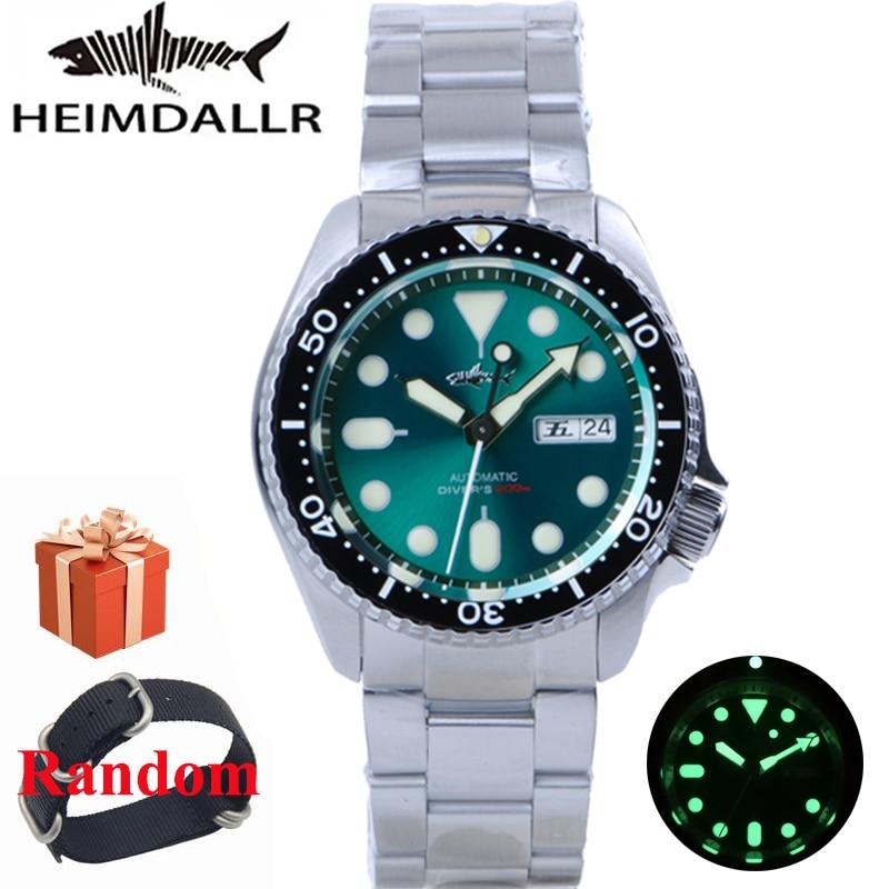 HEIMDALLR Sharkey-ساعة يد رجالية أوتوماتيكية ، مينا مضيئة من الياقوت ، إطار سيراميك ، مقاومة للماء حتى 200 متر ، NH36 ، سوار ميكانيكي من الفولاذ