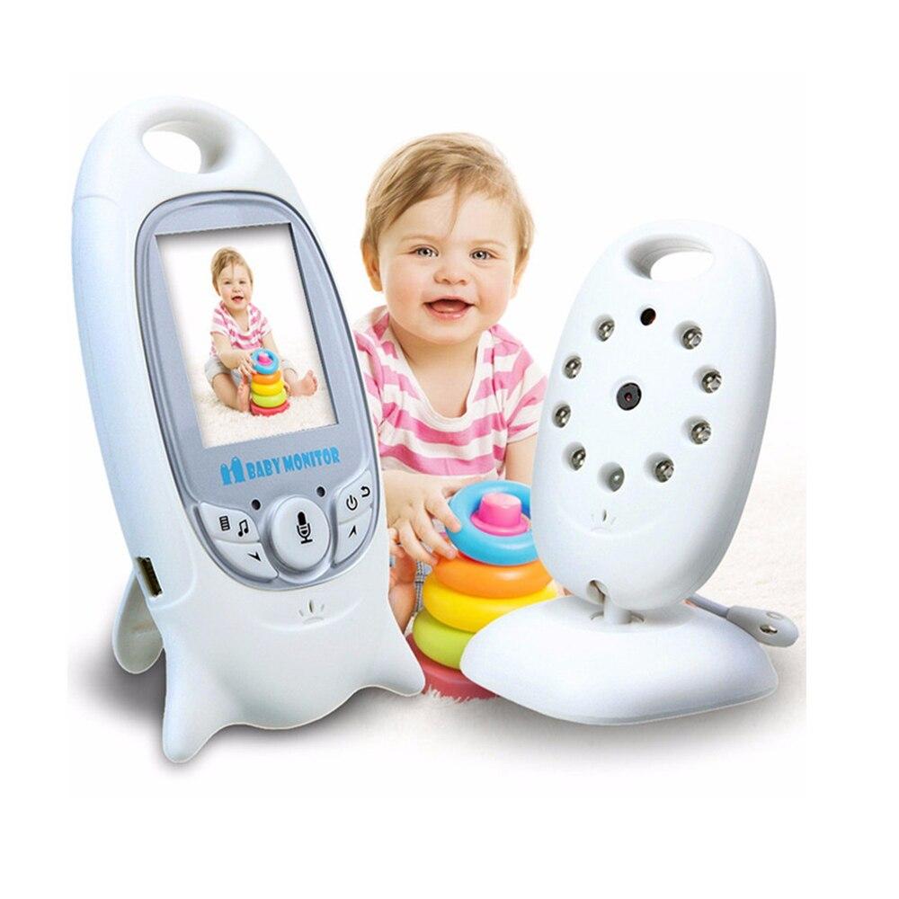 فيديو لاسلكي مراقبة الطفل 2.0 بوصة لون كاميرا الأمن 2 طريقة الحديث للرؤية الليلية الأشعة تحت الحمراء LED مراقبة درجة الحرارة مع 8 تهويدة