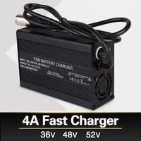 36v 48v 52v lithium battery charger 4a fast charger 42v 54 6v 58 8v li ion battery pack charger ebike electric bike dc xlr rca