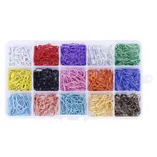 600/450Pcs Veiligheid Pin Markers Pinnen Craft Naaien Gemengde Kleur Veiligheidsspelden Kalebas Kalebas Vorm Breien Stitch Houder accessoires