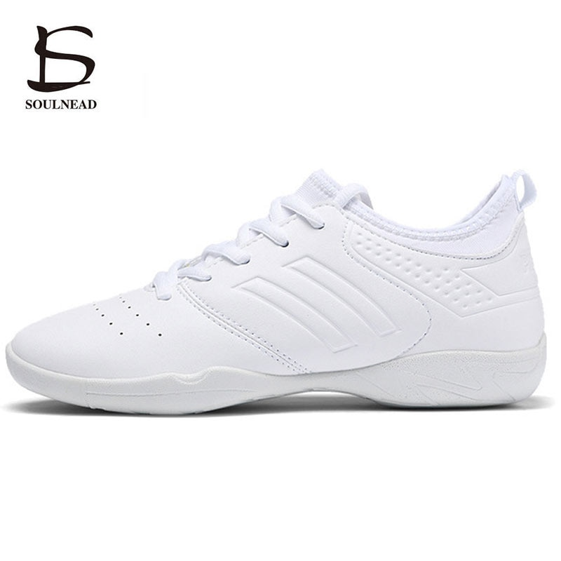 Aerobics Shoes Women's Sneakers Girl's Athletic Shoes Ladies Fashion Modern Street Dance Shoes White