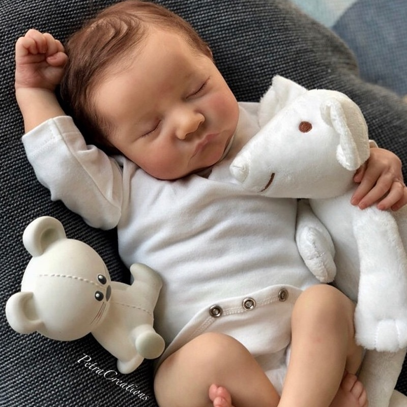 Bebe Reborn Kit 17 Inches Reborn Baby Kit Levi Vinyl Unpainted Unfinished Doll Parts DIY Blank Doll Kit