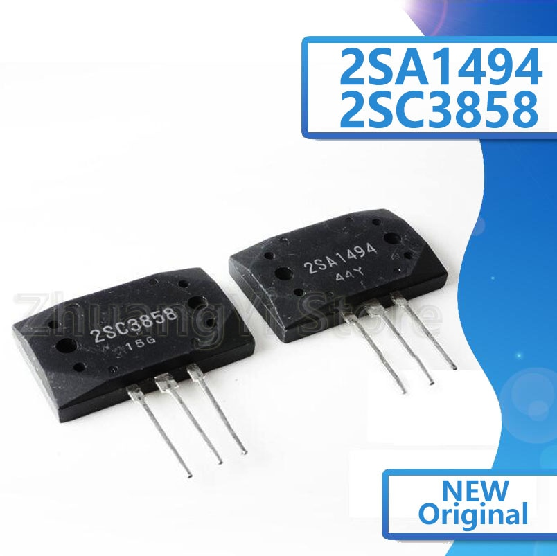 Transistor amplificador de Audio 2SA1494 2SC3858 MT-200 silicona NPN + PNP, 5 pares