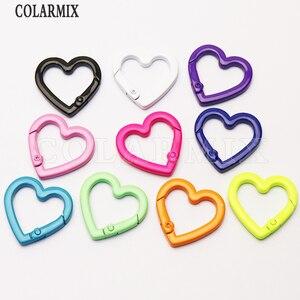 10Pcs Heart pendants Enamel colors pendants forwomen jewelry Mix color heart shape fashion jewelry pendant   for women 51209