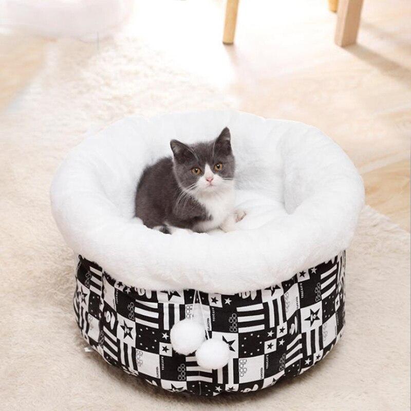 Gato cómoda casa calmante para perros, caseta para cachorros, cueva, cama para dormir, cama cálida de invierno para gatos, suministros para perros mascota