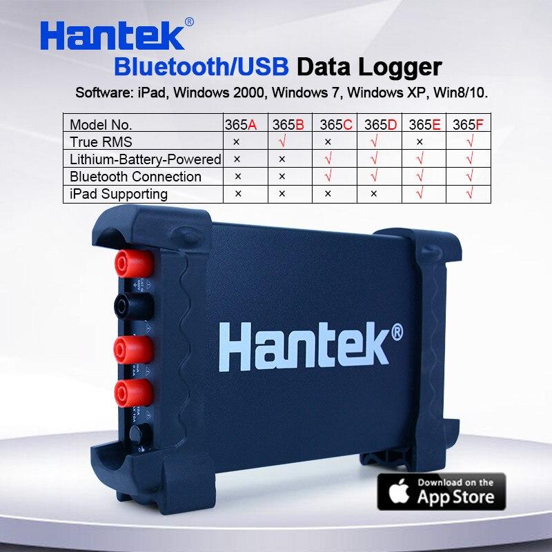 بلوتوث/USB مسجل بيانات Hantek 365A/365B/365C/365D/365E/365F T-RMS الجهد الحالي أوم السعة ديود مسجل دعم باد
