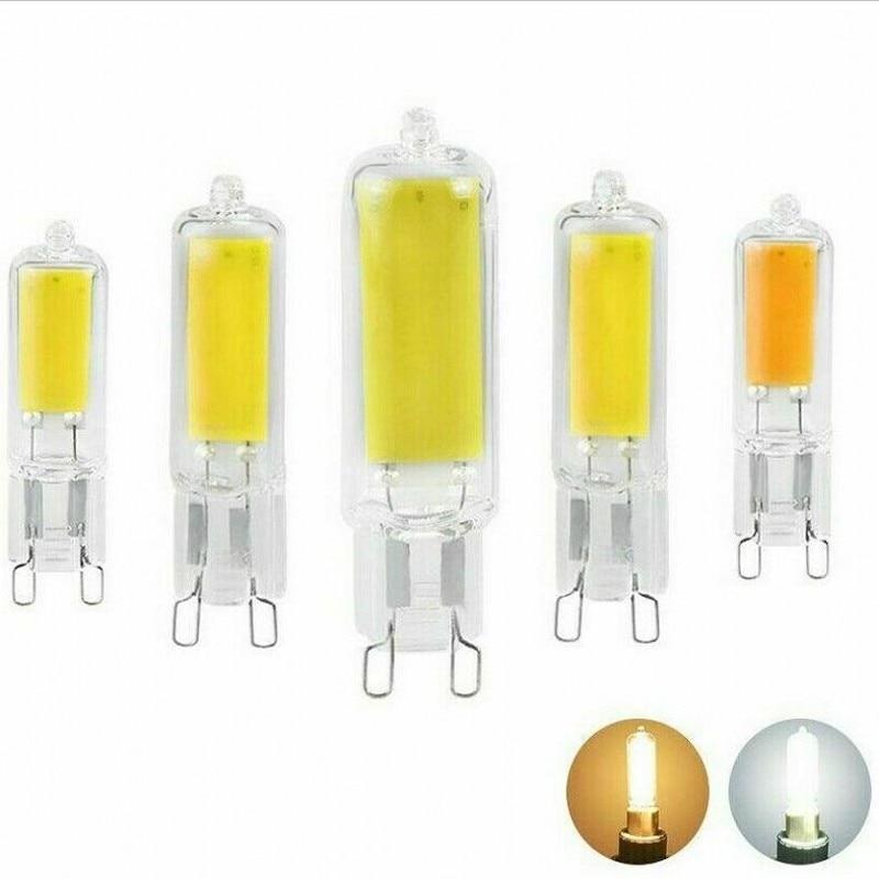 Bombilla LED COB G9 de 7W, 9W, 12W, sin parpadeo, 220V, foco...