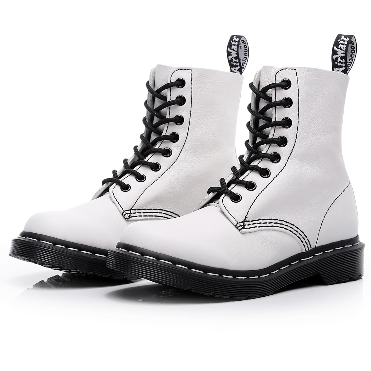 2021 Martens boots Genuine Leather boots fashion Female Martin boots top womens Thick bottom motorcy