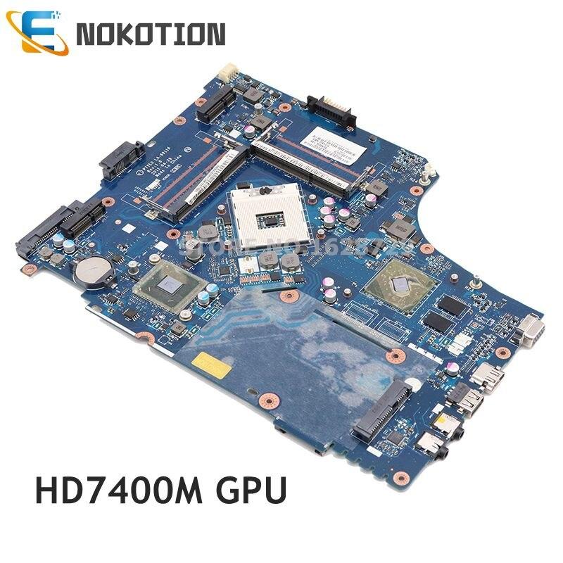 NOKOTION MBBVV02001 MB. BVV02.001 материнская плата для ноутбука Acer aspire 7750 7750G P7YE0 LA-6911P HM65 DDR3 HD7400M основная плата работает