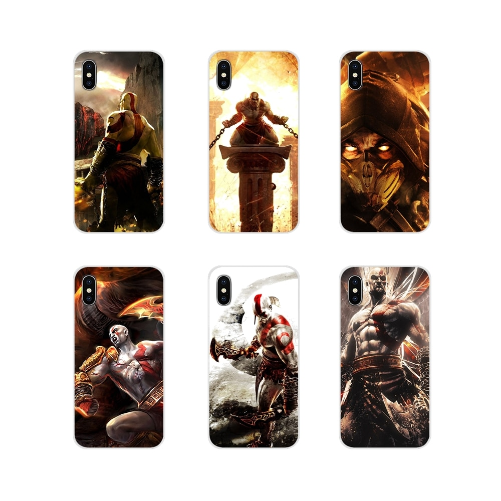 "Juego God of War ""Mortal Kombat"" Arte accesorios bolsa caso para iPhone X de Apple XR XS 11Pro MAX 4S 5S 5C SE 6 6S 7 7 Plus ipod touch 5 6"