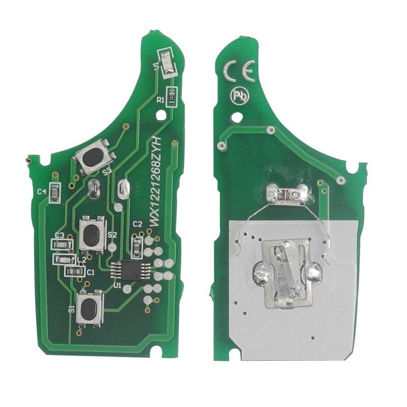 jingyuqin Remote Flip Car Key Case Shell Fit For Kia K2 K5 Sportage Hyundai I20 I30 IX35 Avante 433Mhz ID46 Chip 3 Buttons