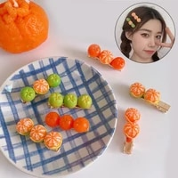 new creative simulation orange hair clip for women korea cute hair accessories headband funny hairpin baby girls barrette 1pcs