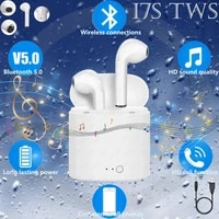 tws wireless bluetooth 5 0 headsets stereo 4 2 in ear sports music in ear headphone headset with charging case i7s