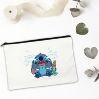 cute blue animal womens handbag mini bag storage cosmetic for makeup pouch bags free shipping organizer ipad travel set woman