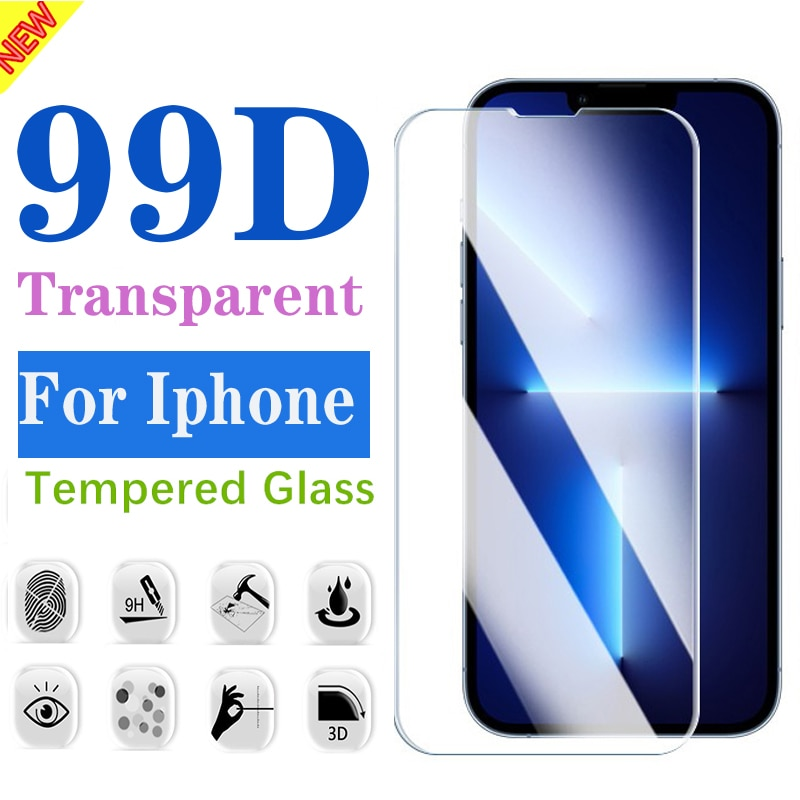9H Tempered Glass for IPhone 13 11 12 Pro MAX 13 Mini Screen Protector Iphone XS Max XR X 8 7 Plus P