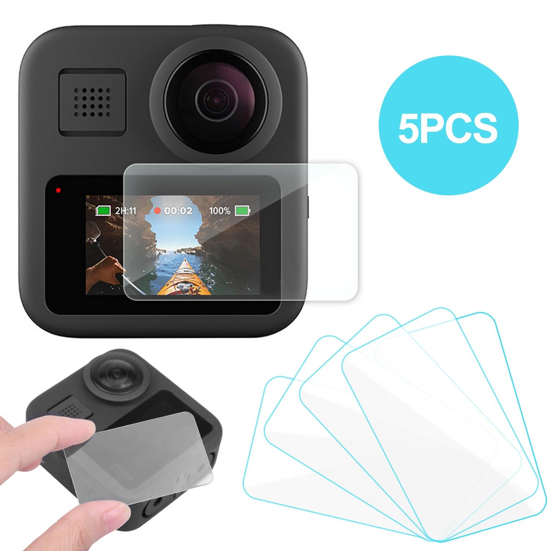 Gosear 5 uds Protector de pantalla Anti-rasguño de vidrio templado Protector de pantalla accesorios de película para GoPro Cámara de Acción Go Pro Max