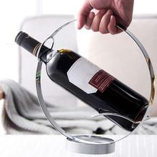 Soporte moderno de acero inoxidable para vino, soporte para mesa de restaurante, soporte para botella de vino de cristal colgante, soporte para Bar Accessori