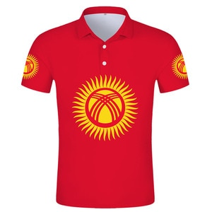 KYRGYZSTAN POLO shirt diy free custom made name kgz POLO shirt nation flag kg kyrgyz country respirant print photo logo clothes