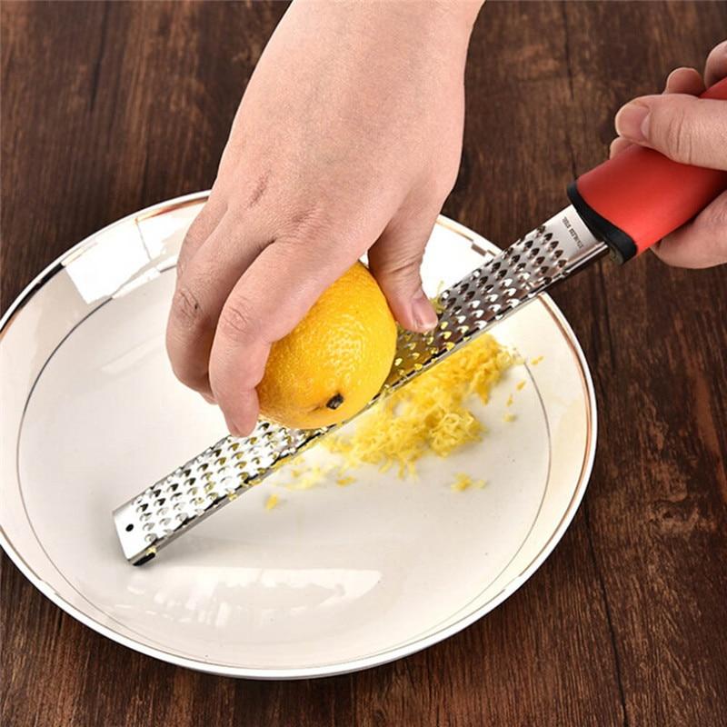 Ralador de queijo de microplane ralador de queijo ralador de frutas vegetais rallador de frutas de limão de aço inoxidável