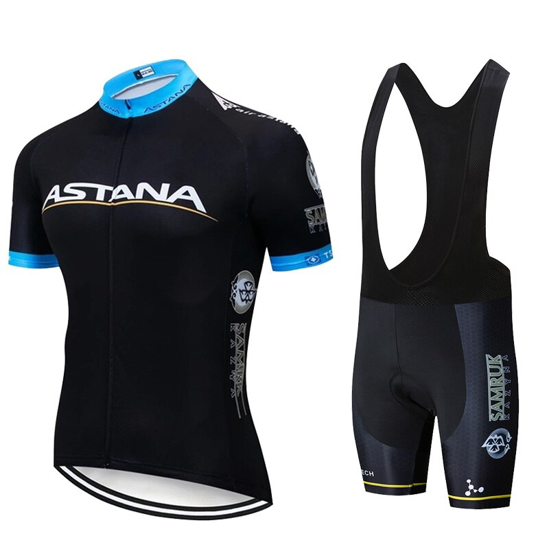 2020 equipo ASTANA Ropa de ciclismo de color blanco bicicleta Jersey Ropa para hombres bicicleta verano Camisetas de ciclismo profesional Gel Pad Bike Shorts