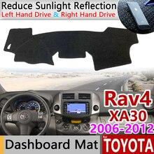Toyota rav4 xa30 용 2006 ~ 2012 rav 4 30 미끄럼 방지 매트 대시 보드 커버 패드 sunshade dashmat 카펫 자동차 용품 2007 2008 2010