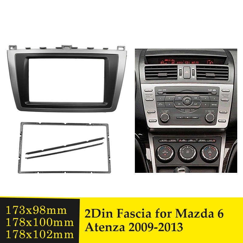Doppel Din Auto Fascia Stereo Radio Rahmen für Mazda 6 Atenza 2009-2013 GPS DVD-Player-Installation Dash Mount panel Audio Lünette