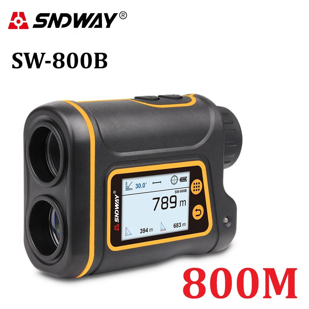 SNDWAY-telémetro láser telescópico, pantalla Digital para caza, Golf, deportes, 800M/1000M/1500M