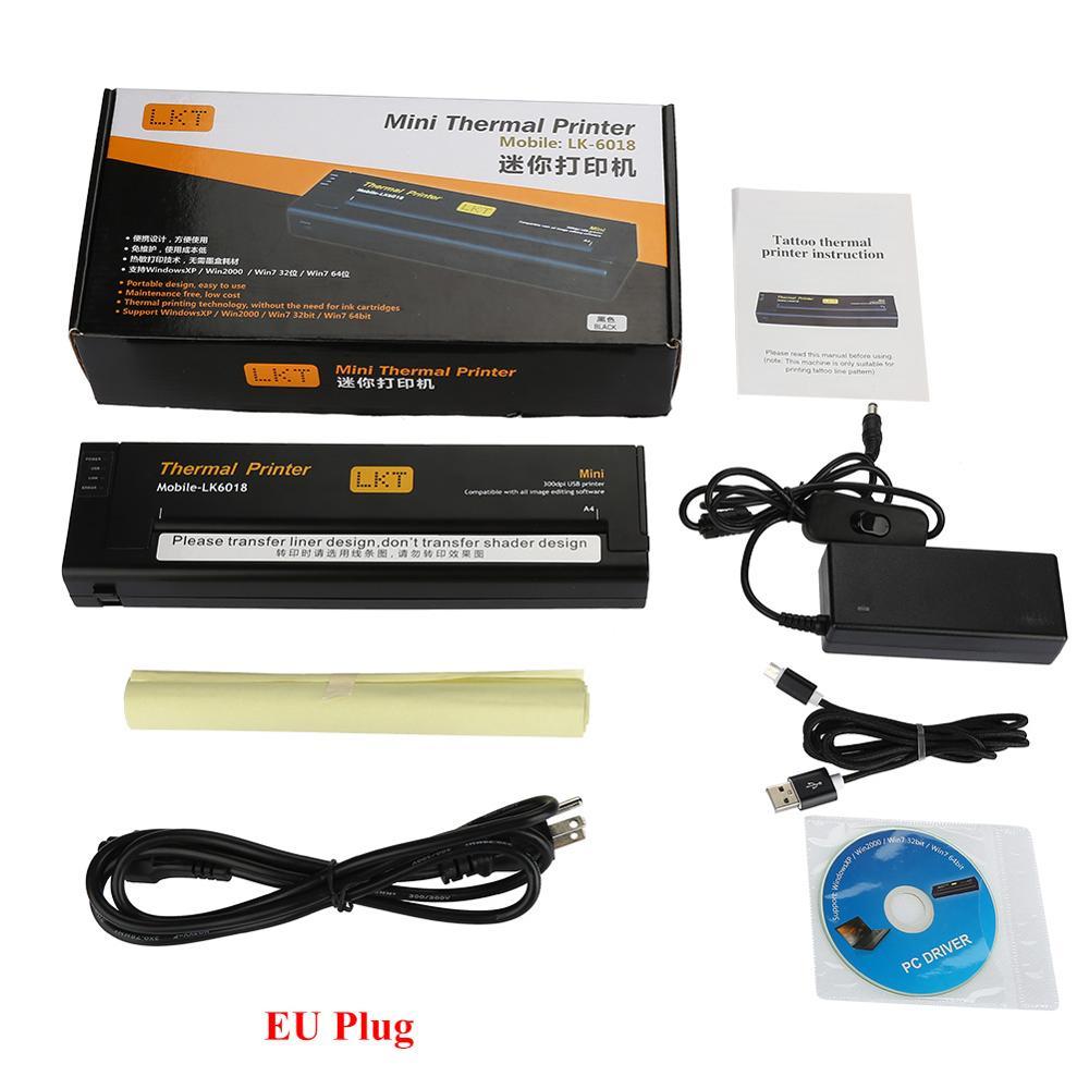USB المحمولة الوشم المصغرة طابعة حرارية القرار عالية نقل الناسخات قالب استنسل ورقة آلة طباعة الوشم العرض