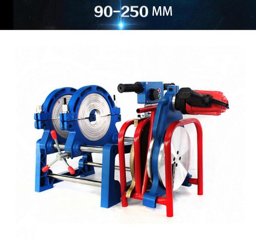 دليل بي PPR بفدف تناكب أنبوبي آلة لحام لحام الأنابيب حجم اثنين حلقة 90-250 مللي متر