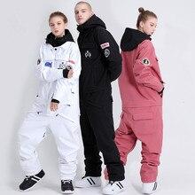 Цельный парный лыжный костюм для мужчин и женщин, комплект для сноуборда, цельный Снежный борд, куртка, штаны, цельный Комплект для лыжных штанов и курток