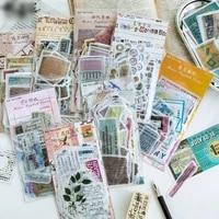 retro english stickers set 60pcspack diy album diary planner scrapbook stickers stationery sticker school office supplies